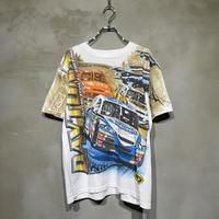 古着 Racing レーシング 車 総柄 Tシャツ