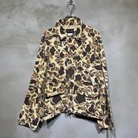 古着 迷彩 カモフラ フロントポケット 長袖 シャツ
