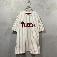"""MLB"" Phillies stripe design T-shirts"