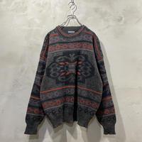 古着 総柄 デザイン ニット セーター