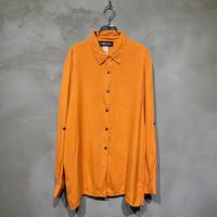 ●古着 silk シルク デザイン 長袖 シャツ