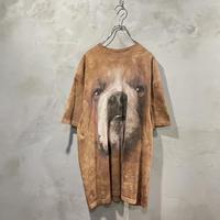 古着 ブルドッグ 犬 タイダイ Tシャツ