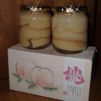 桃のシロップ漬け 500ml 白桃 2本