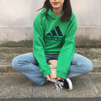 Adidas green big logo parka