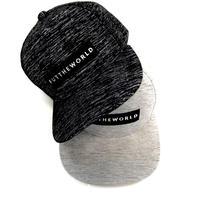 Melange flat visor snapback Cap