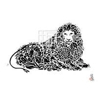 Lion ライオンの墨絵