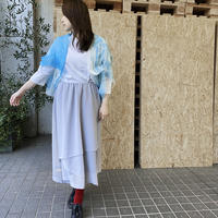 WALL LINEN CARDIGAN  BLUE(One of a kind)