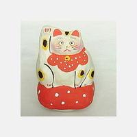 【本まねき猫屋】張り子 座布団 招き猫(57013)