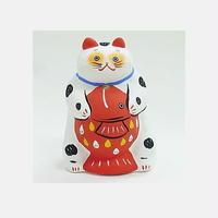 【本まねき猫屋】張り子 鯛がすき!(57011)