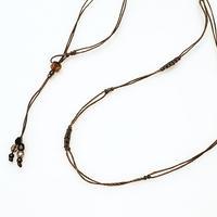 【Lei】マクラメ編み紐(カニカンなし)・ライトブラウン(36001-84)