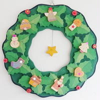 【アトリエ28】クリスマスリース・柊のクリスマスリース