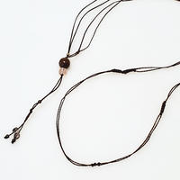 【Lei】マクラメ編み紐(カニカンなし)・ダークブラウン(36001-82)