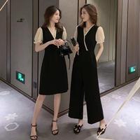 マニッシュ ファッション カシュクール ドレス オールインワン 2種選択 0275