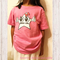 Tシャツ 白星くんピンク