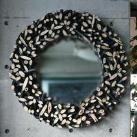 木組み壁掛けミラーL[BG-W-0011]