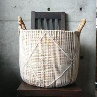 編み籠プランターカバー(ひし模様)L[BG-P-0002]