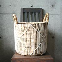 編み籠プランターカバー(ひし模様)M[BG-P-0001]