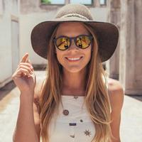 SUNSKI/サンスキー【SUN-DS-BKG】メンズ&レディース-DIPSEAS SUNGLASSES-BLACK/GOLD サングラス 偏光レンズ ミラーレンズ仕様 丸型