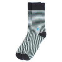 【EA1-MSP-PIS-1S】PACT(パクト メンズ)-MEN'S-Pine Railroad Stripe Premium Crew Sock-オーガニックコットン 靴下