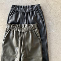 PHEENY - Royal fake leather tapered easy pants