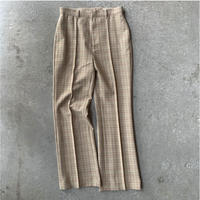 AURALEE - HARD TWIST WOOL DOUBLE FACE CHECK SLACKS