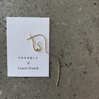 KNOBBLY STUDIO - FLOWING NUDE EARRING