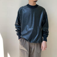 RAINMAKER - ECO LEATHER CREW-NECK SHIRT
