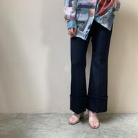 PHEENY - T/W spitare belt-less flared slacks