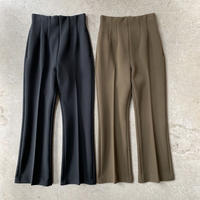 PHEENY - Double cloth high waist semi flared slacks