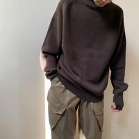 blurhms® - Wool Cotton Silk Rib Knit P/O