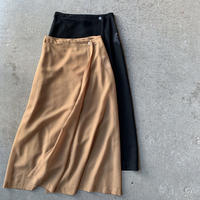 AURALEE - WOOL POLYESTER SHEER CLOTH SKIRT