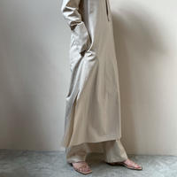 AURALEE - WASHED FINX TWILL STAND COLLAR ONE-PIECE