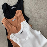 AURALEE - HIGH GAUGE RIB KNIT TANK