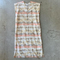 VillD - Cut jacquard linen kaftan dress