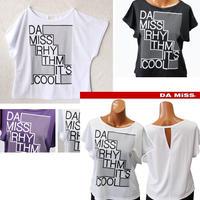 (DAMISS)【吸水速乾】rhythm&coolTシャツ ブラック / ホワイト / パープル    MサイズLサイズLLサイズ