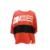 (Marble) 七分T(メンズ) レッド