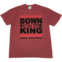DOWN WITH THE KING GERMENT DYED Tee クリムゾン