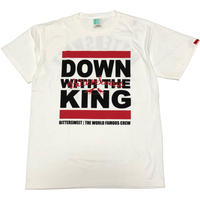 DOWN WITH THE KING GERMENT DYED Tee ホワイト