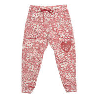 (CLAP)  C-FLOWER  CROPPED PANTS レッド