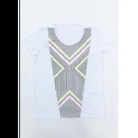 (ROLA MOCA)   総柄 アクセント Tシャツ  WHITE Sサイズ