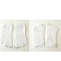 (CLAP)  五本指ソックス レディース  ホワイト/ホワイト