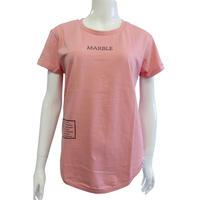 (Marble) ラウンドT ピンク