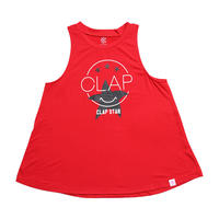 (CLAP)  CLAP STAR a-LINE TANK レッド