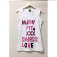 (MJ DIVA) DANCE-LOVEストレッチUタンクトップ ホワイト
