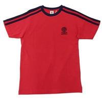 (FRANKLIN&MARSHALL)ラインTシャツ レッド