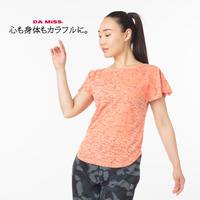 (DAMISS) 透かしTシャツ ブルー オレンジ パープル MサイズLサイズ