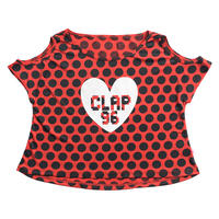 (CLAP)  C-DOTS  HOLE  Tee レッド