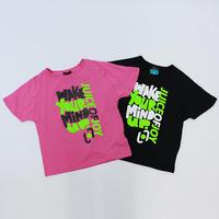 ( JUICE OF JOY) ジュースオブジョイ ユニセックス ビッグロゴTシャツ BLACK PINK Mサイズ