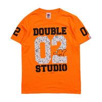 (Wstudio)02BASEBALL Tee ネオンオレンジ LadiesMサイズUnisexMサイズ