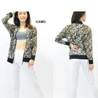 (Brasil Sul) 総柄 メッシュ ジップアップ ジャケット CAMO  Sサイズ